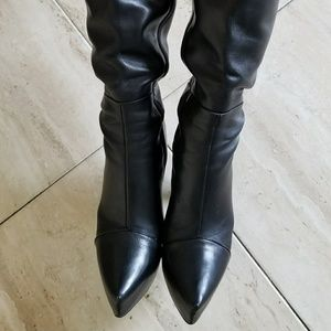Boots black leather